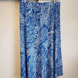 Chico's Blue and White Skirt